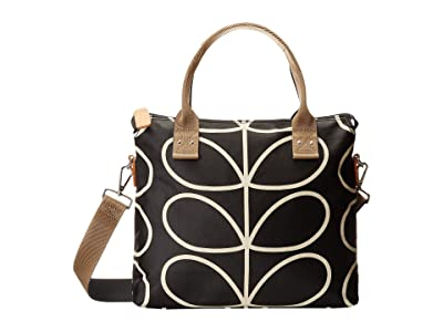 Orla Kiely Zip Messenger (Liquorice) Satchel Handbags