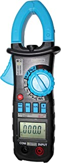 AideTek ACM03 Auto Range AC DC Current Clamp Meter Multimeter Backlight clamp Light Freq Hold Buzz Duty CE CAT.III600V Blue