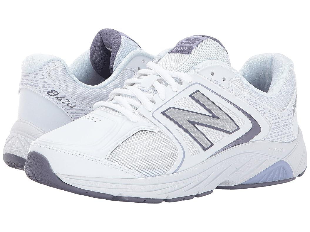 履歴書うるさい隣人レディースウォーキングシューズ?靴 WW847v3 White/Grey 9.5 (26.5cm) B - Medium [並行輸入品]