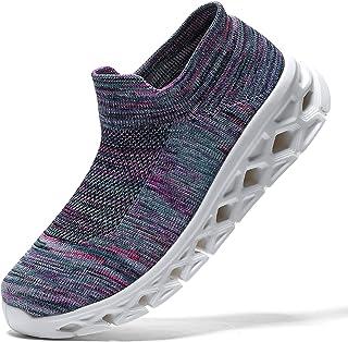 koppu أحذية المشي النسائية سهلة الارتداء جورب أحذية رياضية بوسادة هوائية متسكعون سيدة بنات حديث الرقص الجاز أحذية سهلة
