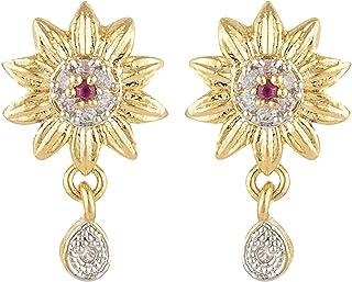 8ad285bec SKN Gold and Silver American Diamond Alloy Stud Earrings for Women & Girls  (SKN-