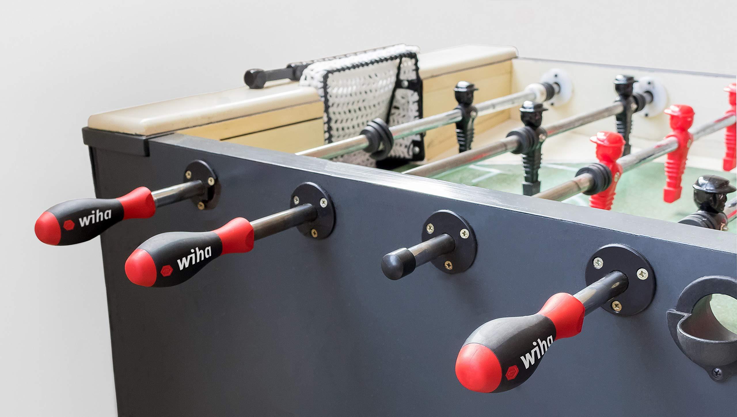 Wiha – Mango de futbolín SoftFinish Unisex, para Barras de 16 mm (5/8) Mango de futbolín, Color Negro Rojo, 11,7: Amazon.es: Deportes y aire libre
