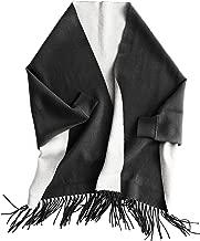 Mer Sea & Co Luxury Napa Reversible Wrapwith Bag - Charcoal/Light Flax (71