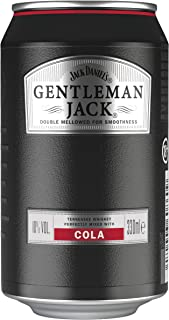 "Jack Daniel""s Gentleman Jack & Cola, 12 x 0,33L, 10% Volume, Extra Mild Tennessee Whiskey mit Cola"