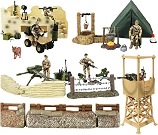 Click N' Play Military Checkpoint 60 Piece Play Set with Accessories.