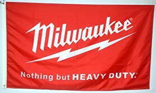 Mountfly Milwaukee Nothing But Heavy Duty Power Tools Equipment Hardware Tool Banner Flag 3X5 Feet Man Cave
