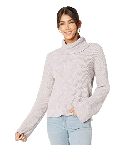 Cupcakes and Cashmere Greenwich Marled Chenille Rib Knit Turtleneck (Faded Lilac) Women