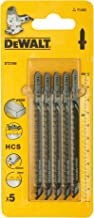 DeWalt Jig saw blade FOR FAST STRAIGHT CUTS IN WOOD AND CHIP BAORD UPTO 60MM THICK - L100, Yellow/Black, DT2166-QZ