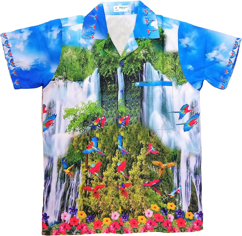 DEVSON Waterfall Flower Men Hawaiian Shirts - ECO Friendly Digital Print Shirts