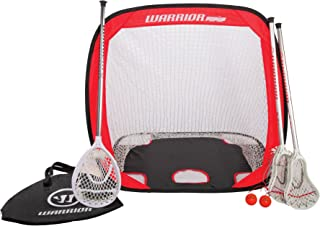 Warrior Mini Lacrosse Target Pop-Up Set with Travel Bag, Orange, One Size
