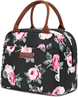 LOKASS Lunch Bag Cooler Bag Women Tote Bag Insulated Lunch Box Water-resistant Thermal..