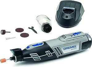 Dremel 8220 Accu-draaikool, 12 V, Multi Tool Kit met 1 opzetstuk, 5 accessoires, Lithium-Ion 2,0 Ah batterij, LED-licht, s...