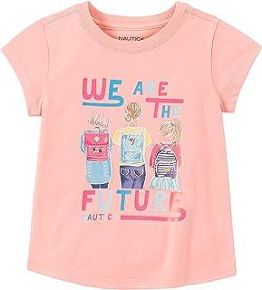 NAUTICA Little Girls' Short Sleeve Graphic Tee