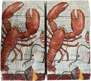 Lobster Theme Disposable 2-Ply Buffet Napkins/Guest Towels - 2 Packs of 20 Count, Total of 40 (Fresh Lobster)