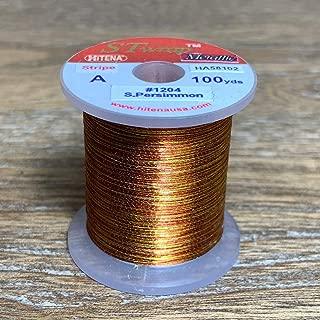 Hitena Rod Wrapping Thread - Metallic Stripe Winding Thread. 10 Pattern Types of Multi-Color Metallic Stripe in Size A and B