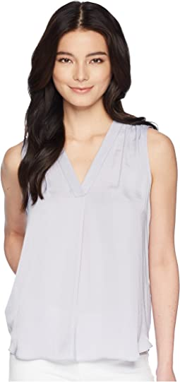 Vince Camuto Specialty Size Petite Sleeveless V-Neck Rumple Blouse