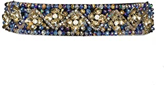 Women's Thick Floral Rhinestone Jeweled Belt