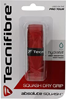 Tecnifibre Absolute Squash Dry Grip Tennis Racket Replacement Grip - Red