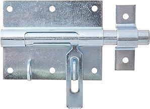 GAH-Alberts 137090 bout-sluitgrendel   met bevestigde lus   elektrolytisch blauw verzinkt   plaat 90 x 73 mm   bout-⌀ 13,5...