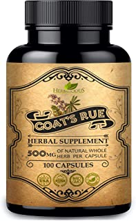 HERBALICIOUS Goat's Rue Capsules 500mg - Organic Goats Rue Herbal Supplement - Natural Galega Officinalis for Breast Feedi...