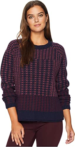 Plaid Lambs Wool Pullover