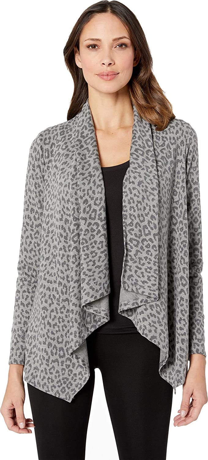 B Collection by Bobeau Women& 39;s Printed French Terry Cardigan