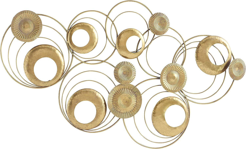 Modernist Floating Rings Sculpture Circular Golden Rods 未使用品 Gilt おすすめ