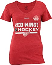 Reebok NHL Women's Detroit Red Wings Tri-Blend Centennial Classic 2017 Locker Authentic V-Neck