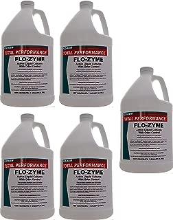 Flo-Kem 5195 Flo-Zyme Commercial Bio-Enzyme Drain Opener/Deoderizer with Pleasant Scent, 1 Gallon Bottle, Milky White (Fіvе Расk)
