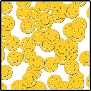 Beistle Fanci-Fetti Smile Faces, Yellow, 1 oz