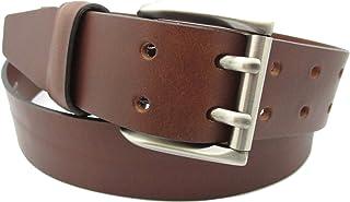 Cintura da Uomo Pelle Doppio Ardiglione - Vera Pelle di alta qualità Realizzato a mano da artigiani in Spagna - Disponibil...