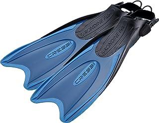 Cressi Palau Aleta Regulable específica para su Uso con el pie Descalzo o con Escarpines sin Suela, Unisex, Azul/Azul Claro, S/M (38/41)