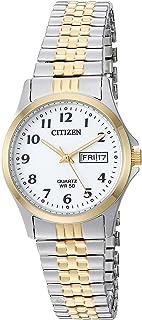 ساعت مچی کوارتز استیل زنانه روزمره ، رنگی: دو رنگ (مدل: EQ2004-95A)