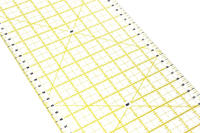Universallineal zum N/ähen und Basteln mit exakten Abmessungen CM Patchwork Lineal 60x16cm N/ählineal MM und Winkel-Ma/ßen Acryl Transparent La Canilla /®
