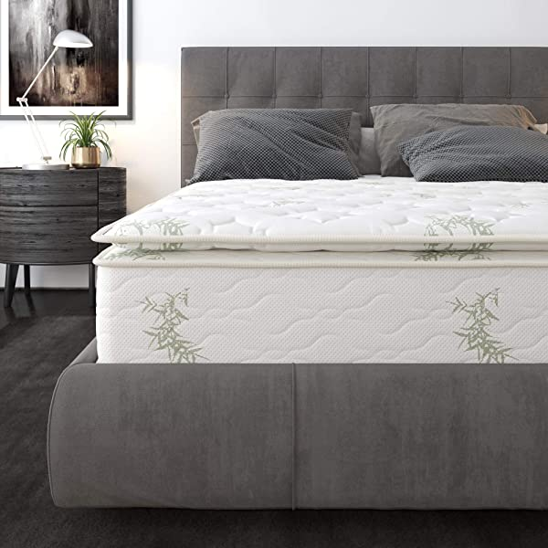 Signature Sleep 6148429 10 Inch Hybrid Coil Pillow Top Mattress Queen White