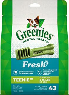 GREENIES Fresh Natural Dental Dog Treats, 12oz Pack