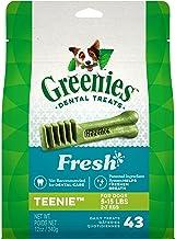 Greenies Freshmint Dental Treat for Teenie Dog (2-7kgs), 340g, 43 treats, Puppy/Adult, Small