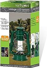 Northpoint 12-LED Lantern Vintage Style, Dark Green