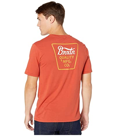 Brixton Potrero Short Sleeve Premium Tee (Henna) Men