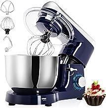میکسر ایستاده ، 6QT 660W 6-speed Tilt-Head Mixer غذا ، میکسر برقی آشپزخانه با قلاب خمیر ، تازیانه سیم ، کوبنده و جداکننده سفیده تخم مرغ