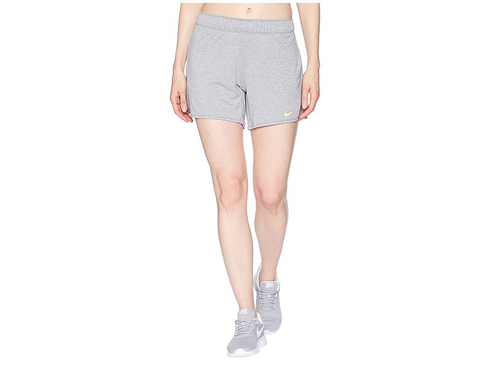 Nike Flex Attack Training Short (Cool Grey/Heather/Volt) Women