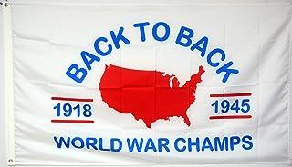 Mountfly World War Champs Back to Back Flag Banner 3x5Feet Man Cave Decor