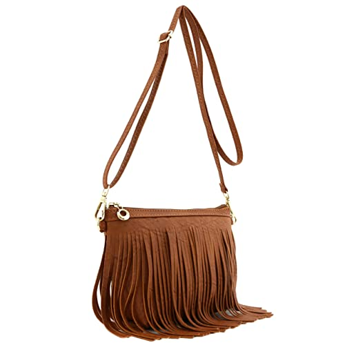 8d48e4bd0c6def Small Fringe Crossbody Bag with Wrist Strap