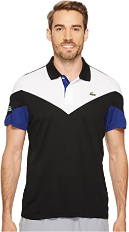 Lacoste - Short Sleeve Ultra Dry Chevron Color Block Polo