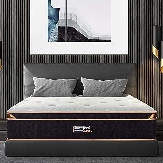 BedStory Queen Mattress, 12 Inch Gel Memory Foam Pocket Spring Hybrid Mattress Queen Size Euro Top Pocket Coil Mattresses,...