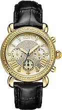 JBW Women's JB-6210 Victory Three SubDial Chronograph Diamond Watch for Women with Analog Display