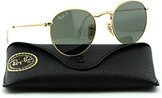 Ray-Ban RB3447 112/58 Round Matte Gold Frame/Green Polarized Lens 50mm