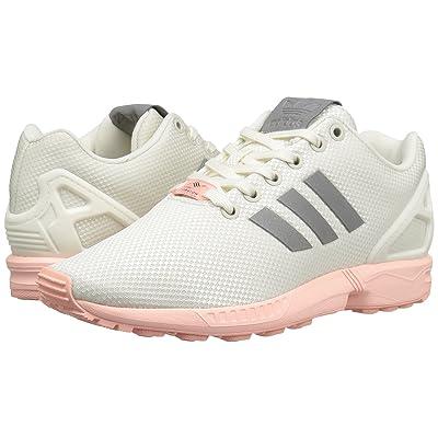 adidas Originals ZX Flux Mesh (Footwear White/Silver Metallic/Haze Coral) Women