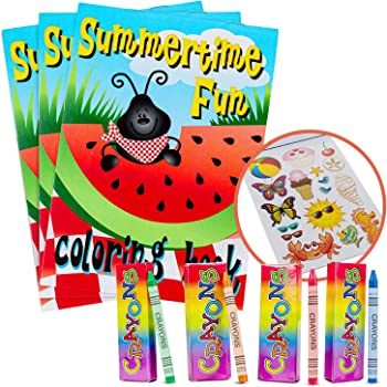 Artistic Stationary Designs For Kids Activity Favonir Assorted Coloring Books And Crayons set of 12 12 Books 12 Pack Crayons Home And Birthday Party Favors Ideal For School