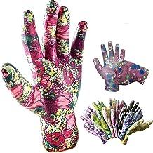 Schneespitze 9 paar werkhandschoenen, meerkleurige tuinhandschoenen, bloem, tuinhandschoenen voor dames voor tuinwerk, hui...
